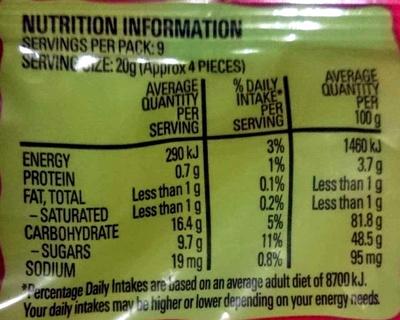 Party Mix - Informations nutritionnelles