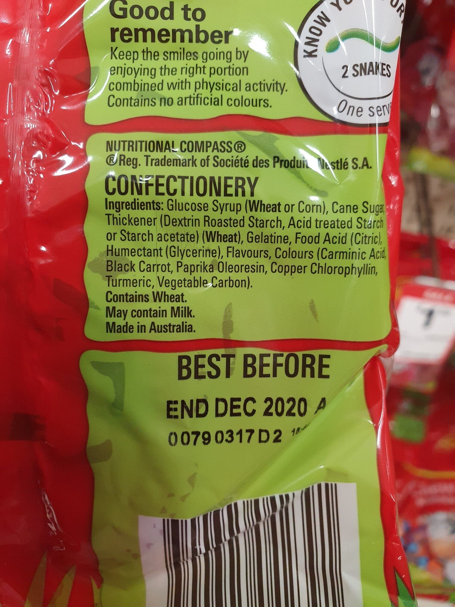 snakes - Ingredients - en