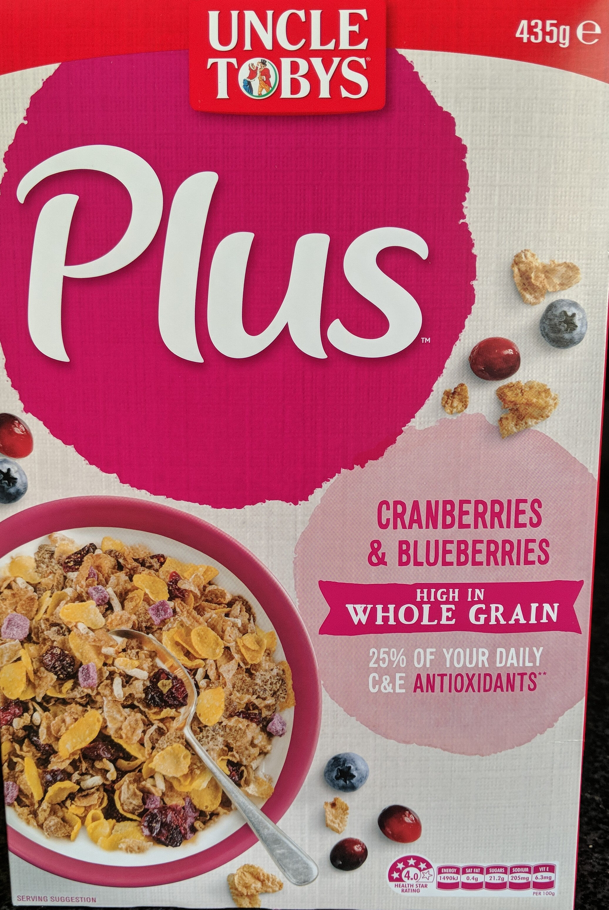 Plus, Cranberries and Blueberries - Product
