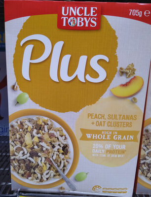Peach, sultanas & Oat clusters - Product - en