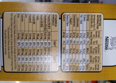 Peach, sultanas & Oat clusters - Nutrition facts - en