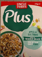Uncle Toby's Plus (Apple and sultanas) - Product - en