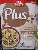 Uncle Toby's Plus (almond and pepitas) - Product