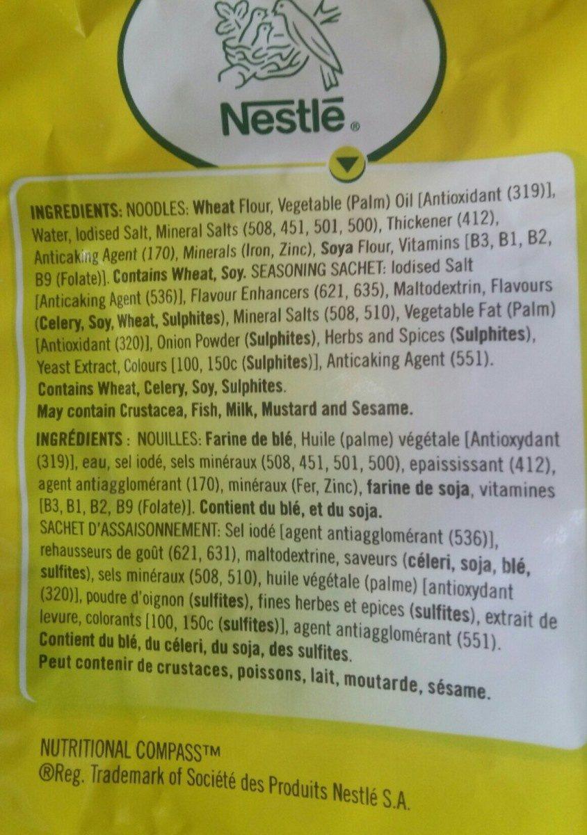 Noodles - Ingredients