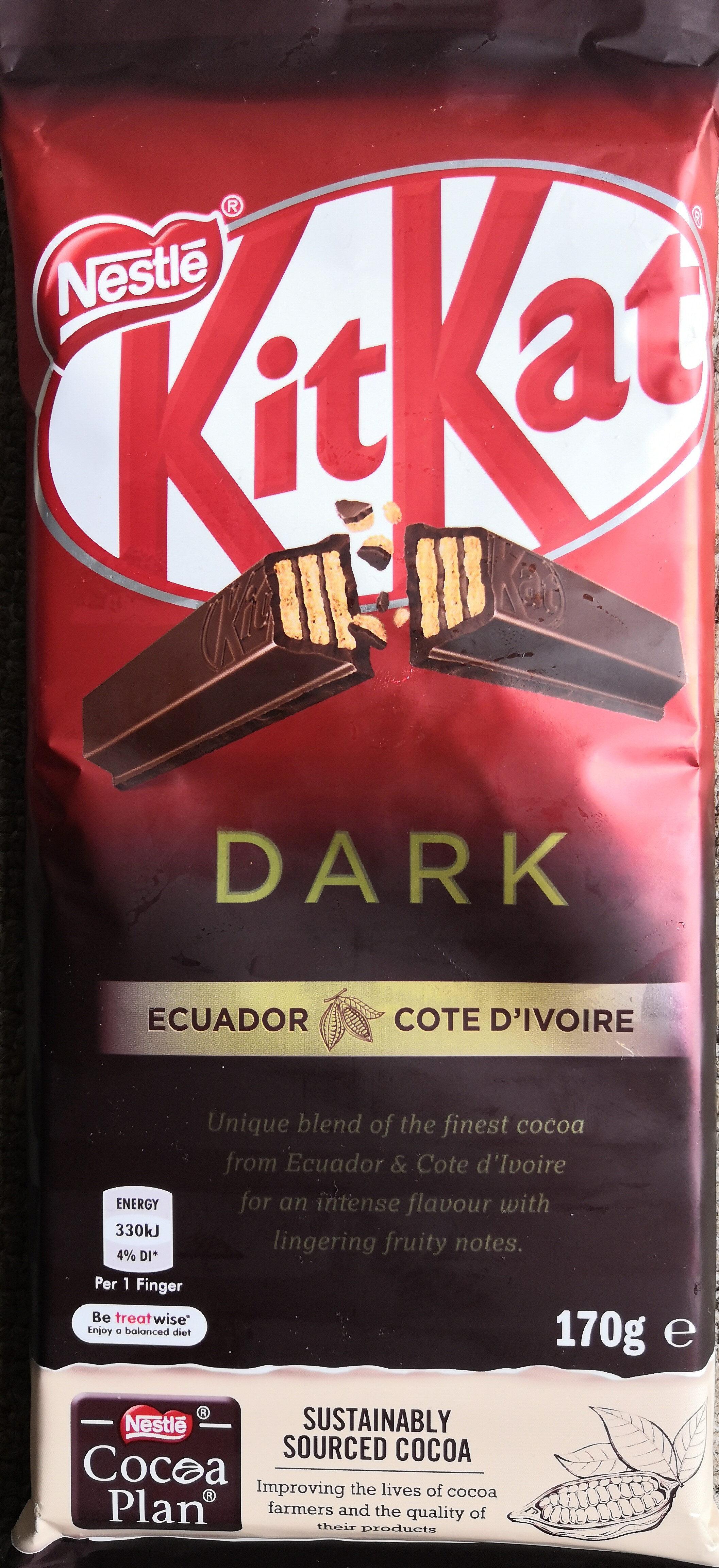 Kit Kat Dark Choc Block 170G - Produit - en