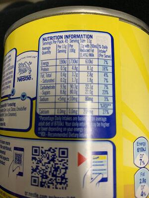 Nestles Nesquik Chocolate 500GM - Valori nutrizionali - en