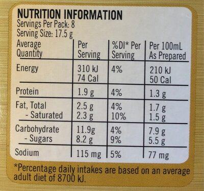 Nescafé Gold - Crème Brûlée Latté - Nutrition facts