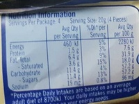 Milkybar with cookies - Nutrition facts - en
