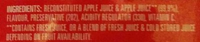 Apple Juice - Ingredients