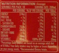 Apple Juice - Nutrition facts - en