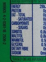 Sugarfree Extra Spearmint - Ingredients - en