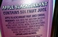 Apple blackcurrent fruit juice cordial - Ingredients