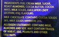 Dairy Milk Roast Almond - Ingredients - en