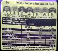 Dairy Milk Snack - Nutrition facts - en