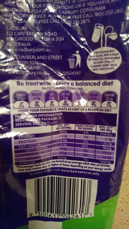 Cad Caramello Koala Share 180G - Nutrition facts - en