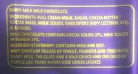 Cadbury Dairy Milk - Ingrediënten - en