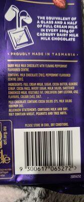 cadbury dairy milk peppermint chocolate - Ingredients - en