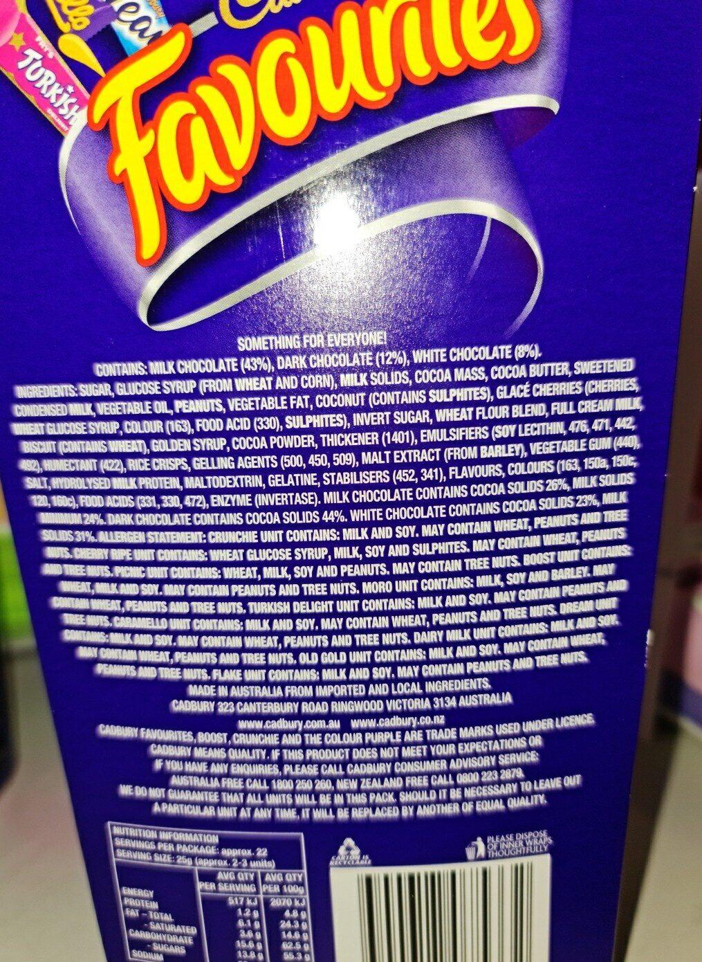 favourites - Ingredients - en