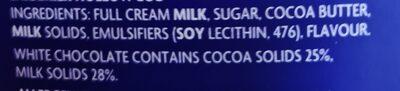 cadburys caramilk easter egg - Ingredients - en