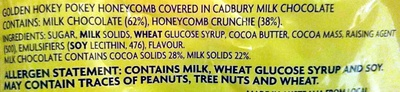 Cadbury Crunchie 12 Treat Size - Ingredients - en