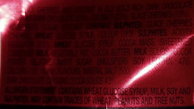 Cherry Ripe - Ingrediënten - en
