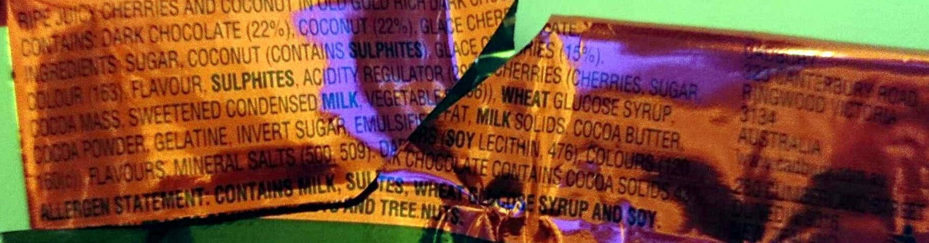Cherry Ripe Twin Pack - Ingredients - en