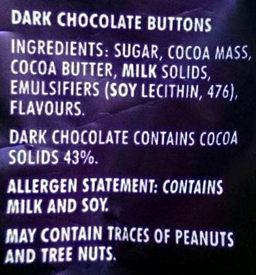 Real Dark Chocolate Melts - Ingredients - en