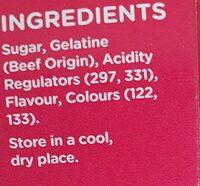 Jelly crystals - Ingredients - en
