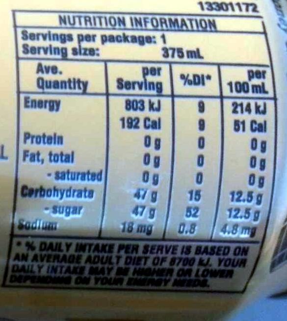 Kirk's Old Stoney Ginger Beer - Nutrition facts - en