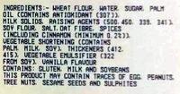 Cinnamon Donut 6 Pack - Ingredients - en