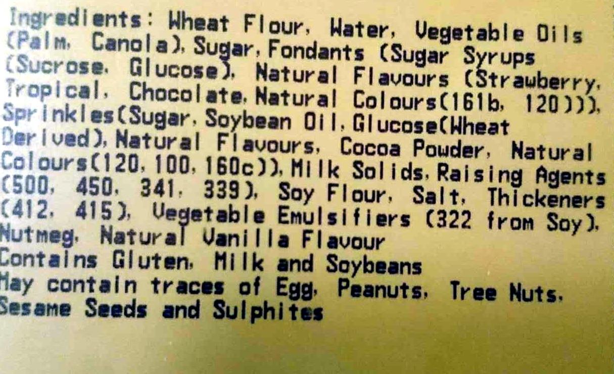 Iced Donuts - Ingrediënten - en
