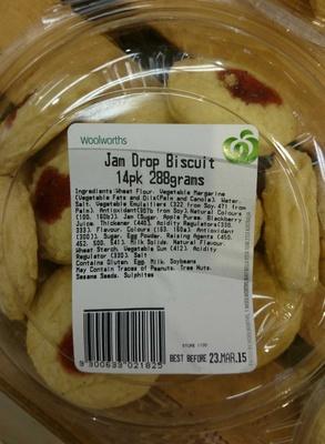 Jam Drop Biscuit 14 Pack - Product