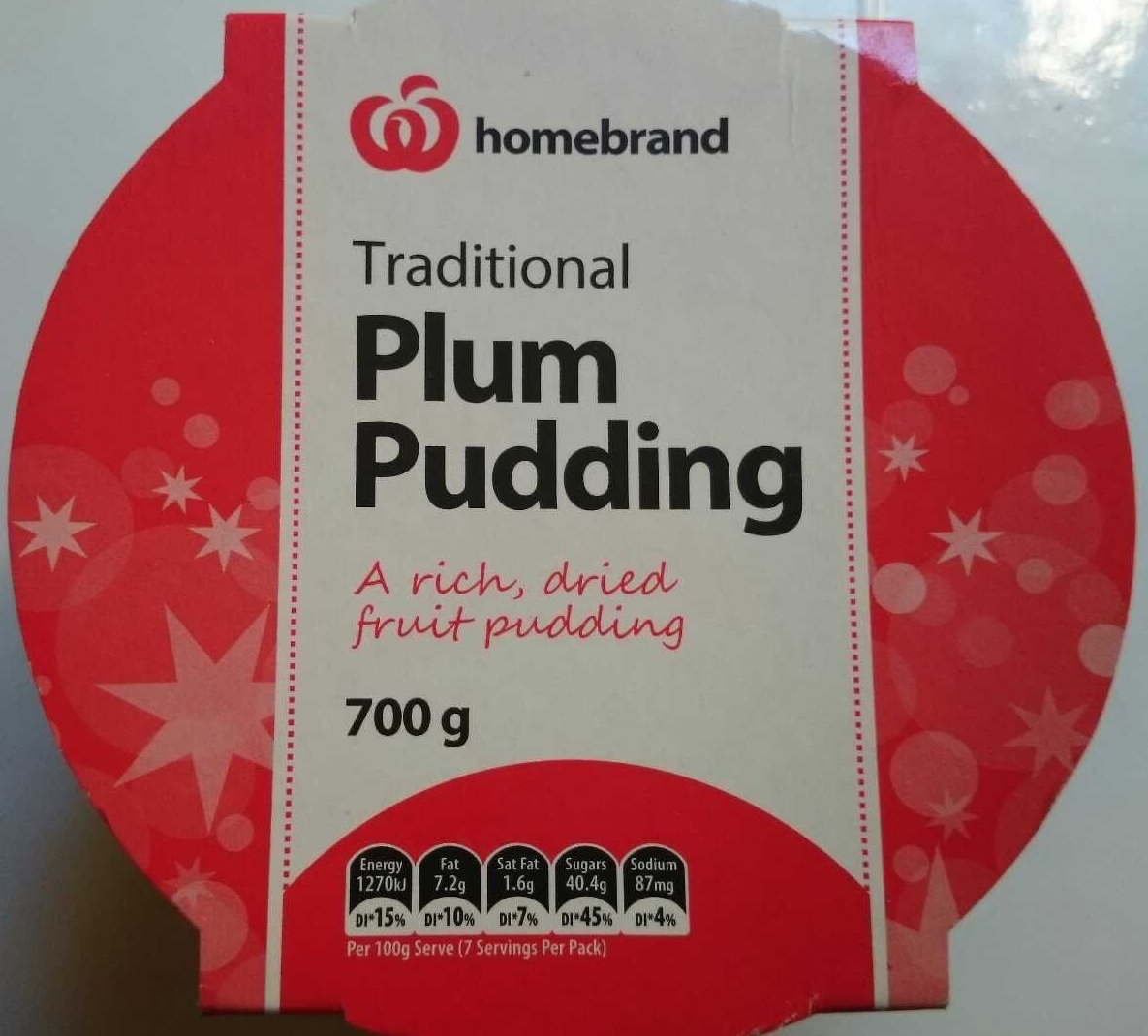 Traditional Plum Pudding - Product