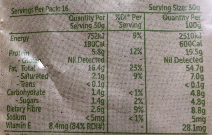 Almonds - Nutrition facts - en