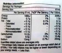 Probiotic - Nutrition facts - en