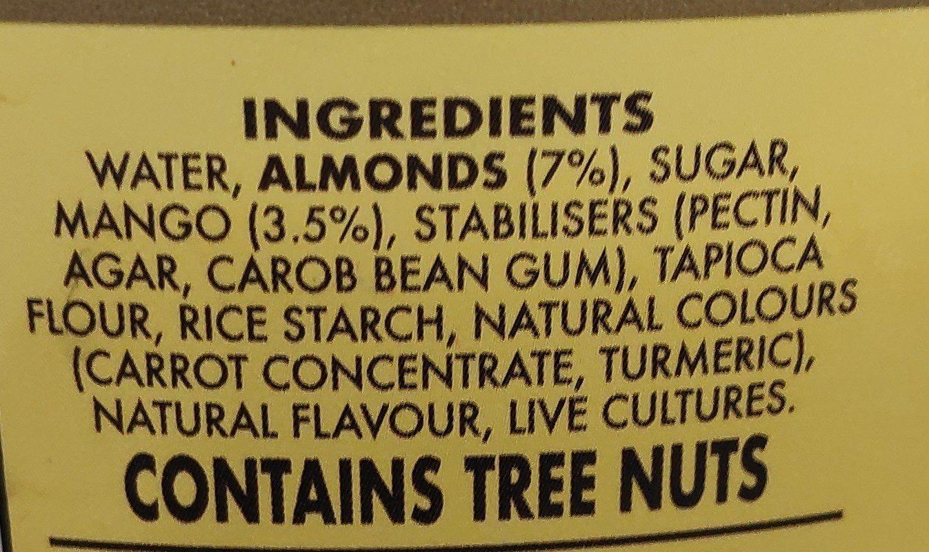 Almond milk yoghurt - Ingrédients