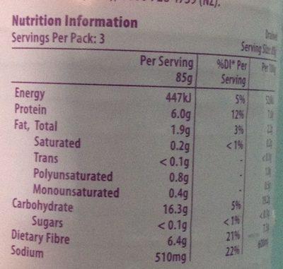 Almond milk yoghurt - Informations nutritionnelles
