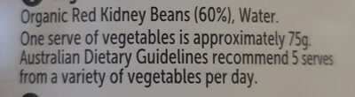 Red Kidney Beans (Organic) - Ingredients - en