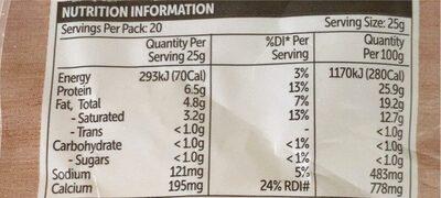 Australian mozzarella shredded cheese - Nutrition facts - en
