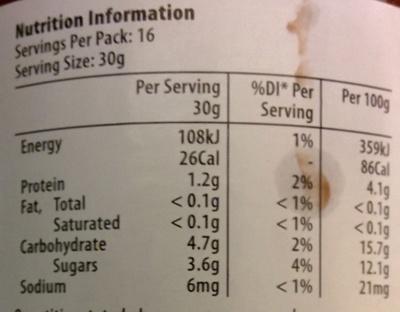 Tomato Paste - Nutrition facts - en