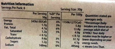 Vegetable Samosas - Nutrition facts - en