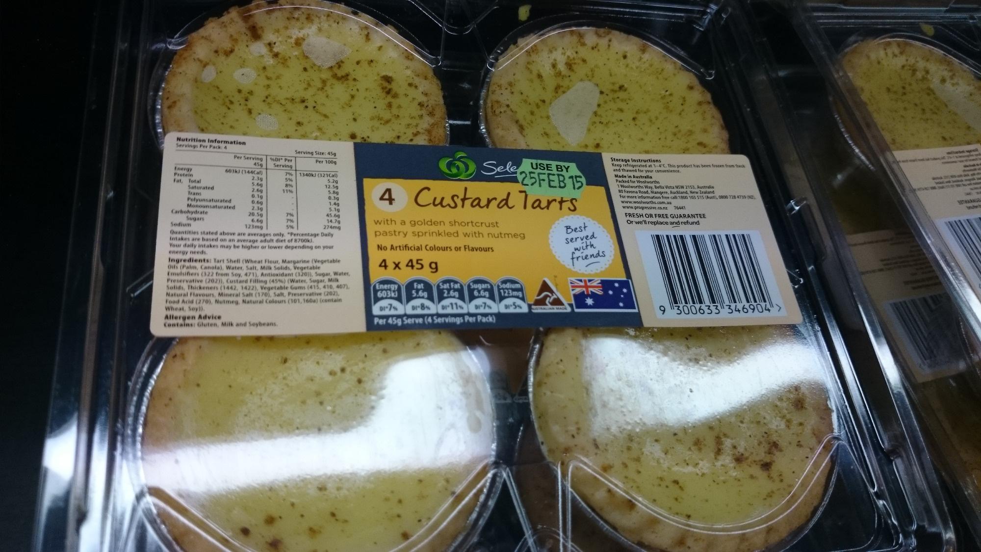 4 Custard Tarts - Product - en