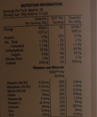 Max charge - Nutrition facts - en