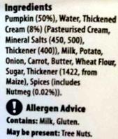 Creamy Pumpkin Soup - Ingredients