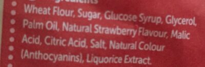Liquorice twists strawberry flavoured - Ingrediënten