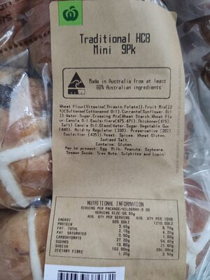 Woolworths hot cross buns - Ingredients
