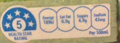 Australian Lite Milk - Nutrition facts - fr