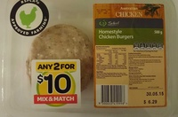 Homestyle Chicken Burgers - Product - en