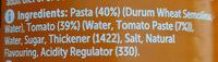 Spaghetti in Tomato Sauce - Ingredients - en