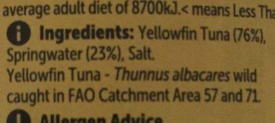 YellowFin Tuna - Ingredients - fr